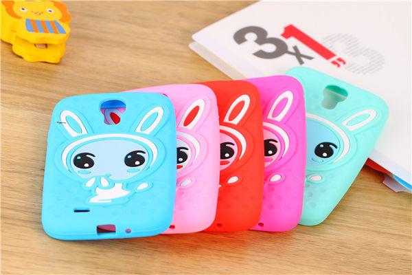 King*Shop~韓國可愛害羞兔子三星 S4 手機殼 矽膠套 I9500外殼 保護套