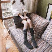 黑五好物節❤秋冬羊絨及膝襪羊毛中筒加厚保暖小腿襪學院風長筒襪