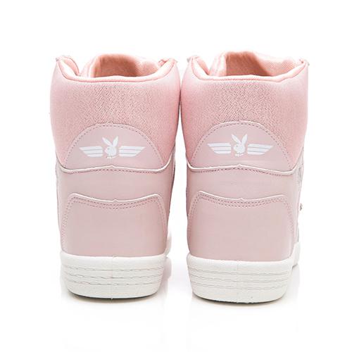 PLAYBOY 璀璨亮蔥內增高休閒鞋-粉