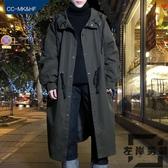 風衣外套春秋季男生寬鬆中長款男學生長款大衣外套【左岸男裝】