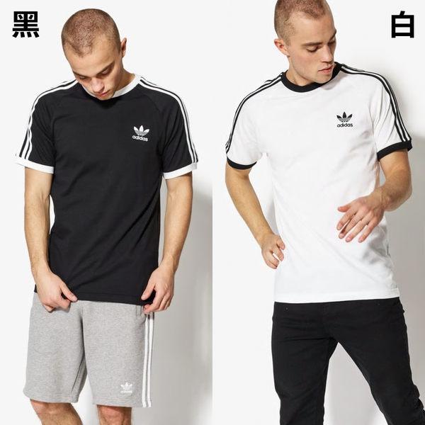 【GT】Adidas Originals 黑白藍紅 短袖T恤 純棉 運動 休閒 上衣 短T 愛迪達 基本款 三葉草 三條線 Logo