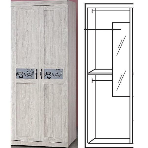 衣櫃 衣櫥 PK-539-1 密卡登2.5X7尺雙吊衣櫥【大眾家居舘】