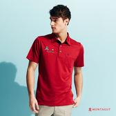 男上衣短袖POLO衫 夢特嬌吸濕排汗運動款_紅色