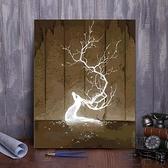 diy數字油畫客廳手工填色油彩畫減壓畫手繪裝飾畫【極簡生活】