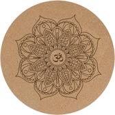 納古迪軟木小圓形瑜伽墊防滑天然橡膠圓的打坐禪修地墊拜佛冥想墊