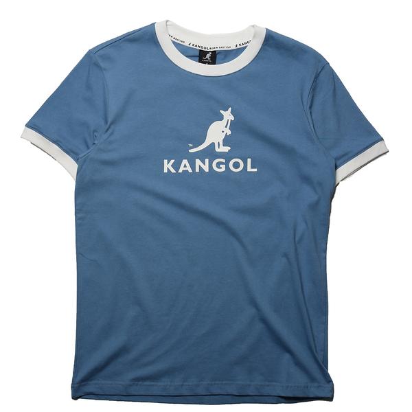 KANGOL 短袖 短T 袋鼠 天然 滾白邊 大LOGO 男 (布魯克林) 6125101481