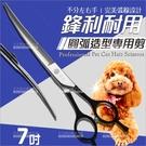 不好用包退{DAY} 7吋毛小孩寵物專用彎剪(圓弧造型美髮剪刀)[57679]