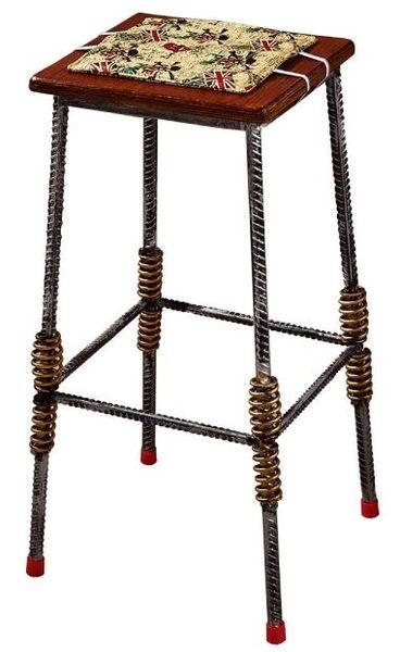 【南洋風休閒傢俱】室內餐廳傢俱系列 - 鋼筋木面吧檯椅 造型吧檯椅 高腳椅 工業風吧椅 (JF991-7)