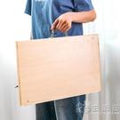 得力初學者美術學生畫板速寫素描生用便攜式手提4k8k雙面木質繪 小時光生活館