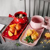 年終慶85折 創意早餐碗盤日式帶把可愛麥片碗甜品公主碗烘焙烤碗下午茶套裝 百搭潮品