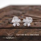 銀飾純銀耳環 日本櫻花 水滴鑽 精緻小巧...