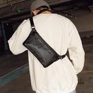 胸包側背包腰包大容量運動騎行斜背包男簡約小包時尚【愛物及屋】
