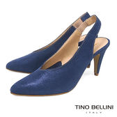 Tino Bellini 義大利進口V型深楦尖頭跟鞋 _ 藍 A83009 歐洲進口款