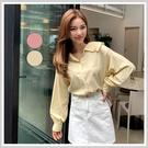 襯衫 氣質素面質感長袖襯衫PS9093-...