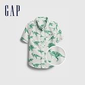 Gap男幼童 童趣印花短袖襯衫 681442-恐龍印花