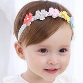 UNICO 韓版 兒童五色花朵銀色髮帶