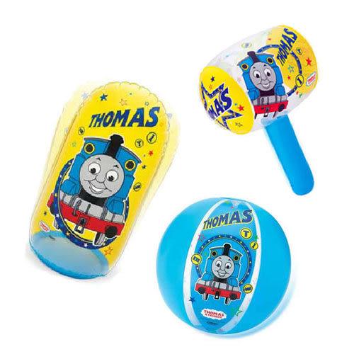 【奇買親子購物網】 湯瑪士 沙灘球+充氣槌+充氣打擊袋 聖誕節特賣