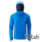 【RAB 英國】DOWNPOUR 男 超輕量防風防水外套『瑪雅藍』QWF61 雨衣 夾克