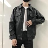 皮衣秋冬機車服皮衣男潮韓版修身青年飛行員夾克潮流男士外套學生帥氣 貝芙莉