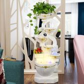 歐式流水噴泉家用客廳加濕器開業禮品風水輪招財魚缸裝飾落地擺件 時尚教主