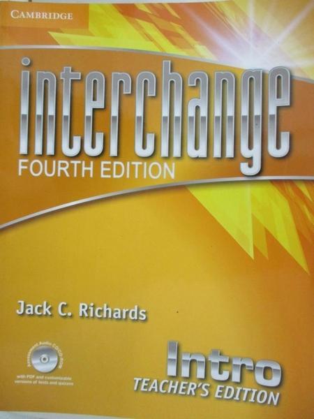 【書寶二手書T2/語言學習_EHR】Interchange Intro Teacher's Edition with Assessment Audio CD/CD-ROM_Richards