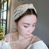 韓國頭箍超仙簡約蕾絲布束發帶甜美洗臉發帶女  ys651『毛菇小象』