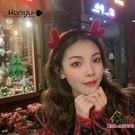 聖誕髮飾 圣誕節飾品頭飾髮箍女百搭外出秋冬韓國髮卡韓版可愛網紅頭箍髮夾耶誕節