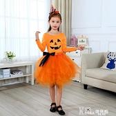 萬聖節兒童服裝女童cosplay南瓜服女巫公主紗裙巫婆舞台演出衣服 Korea時尚記