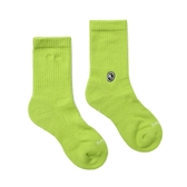 H2O CREW SOCKS 2020新版 萊姆色 純色 中高筒襪 男女 20SS01GN