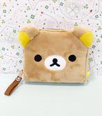【震撼精品百貨】Rilakkuma San-X 拉拉熊懶懶熊~拉拉熊短夾-絨毛#67244