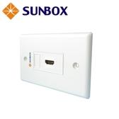 單孔 HDMI 面板插座(WP-1H) SUNBOX