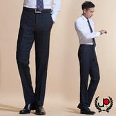 極品西服 英倫風範格紋羊毛平面西褲_黑格(BW603-1)