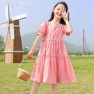 女童洋裝女童連身裙夏季新款韓版中大童夏裝小女孩童裝公主裙兒童裙子 快速出貨
