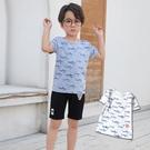 鯊魚游泳樂園字母短T 春夏童裝 男童棉T 男童上衣 男童短袖 男童T恤