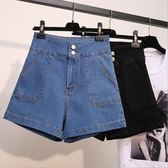 大尺碼牛仔短褲 韓版高腰彈力牛仔熱褲百搭顯瘦 2色 XL-5XL #pm19 ❤卡樂❤
