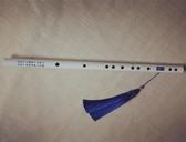 竹笛 白色笛子古風初學者一節橫笛表演拍照道具 - 古梵希