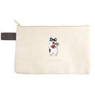 A款【日本進口正版】Pokefasu x Plust 貓咪 扁型 筆袋 鉛筆盒 收納袋 - 174695