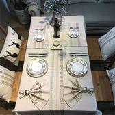 簡約現代長方形歐式西餐茶幾桌布臺布電視柜