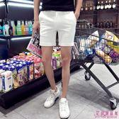 男士 韓版 修身 白色 褲子 休閒褲 英倫 西裝 發型師 短褲