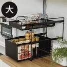 置物架 收納架 碗盤架 廚房收納 瓶罐架【E0081】日式廚衛兩用雙抽收納架(大)-兩色 完美主義
