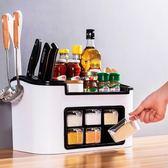 廚房收納架置物架調味料架筷子刀架用品多功能大容量收納盒 KB7414 【歐爸生活館】