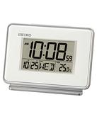 【時間光廊】SEIKO 日本精工 電子鐘 鬧鐘 靜音 溫度 桌鍾 全新原廠公司貨 QHL068W