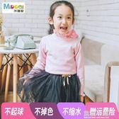 2018新款秋冬女童打底衫中大童加絨毛衣針織衫兒童寶寶中低領線衣 藍嵐