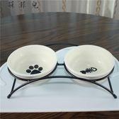 寵物餐桌 卡通圣誕陶瓷碗雙碗