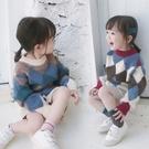 *╮小衣衫S13╭*男女童時尚稜形幾何拼...