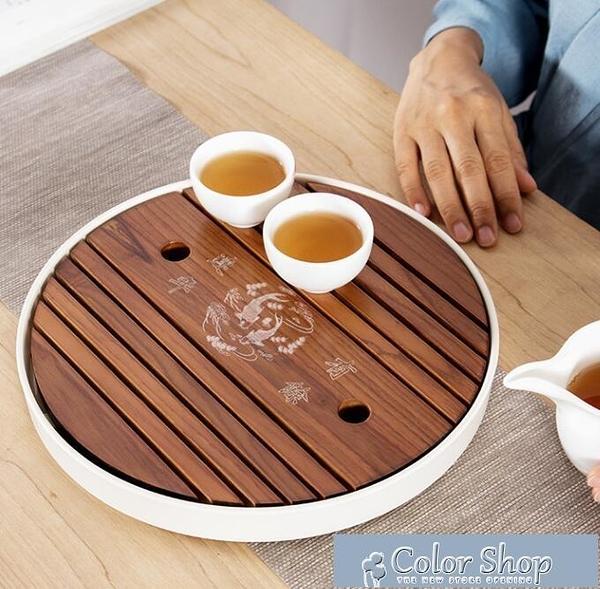 茶盤鑫裕源實木茶盤家用長方形儲水日式竹制托盤陶瓷小茶臺簡約幹泡 快速出貨YYP