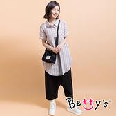betty's貝蒂思 鬆緊腰圍低檔休閒九分褲(黑色)