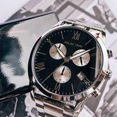 RELAX TIME RT67 飛行者計時手錶-黑x銀/45mm RT-67-1
