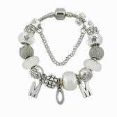 串珠手環-時尚簡約字母吊墜水晶飾品女配件73kc235【時尚巴黎】