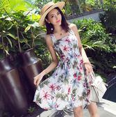 翠花小清新裙子女夏沙灘裙吊帶裙顯瘦海邊度假背帶洋裝 GB5822『科炫3C』
